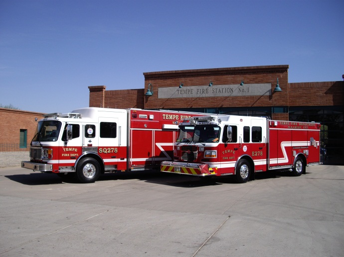 Squad 278 and Engine 278 responds from Station 1