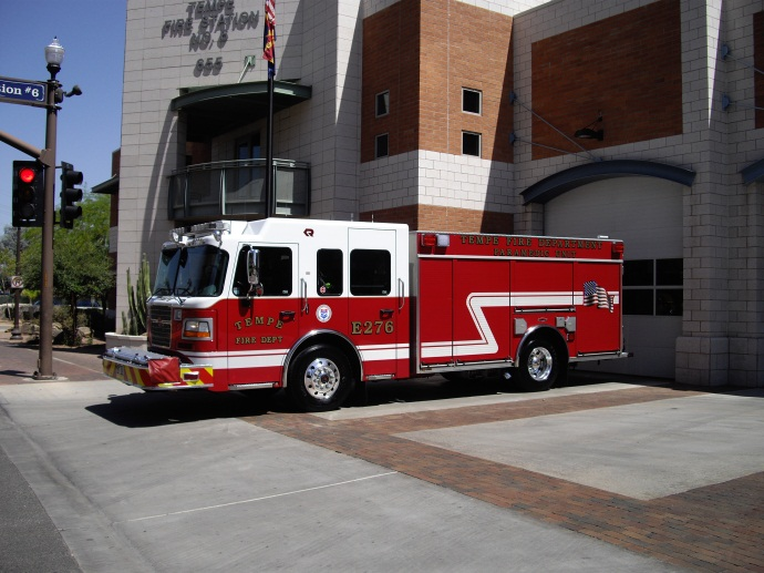 Engine 276 responds from  Station 6