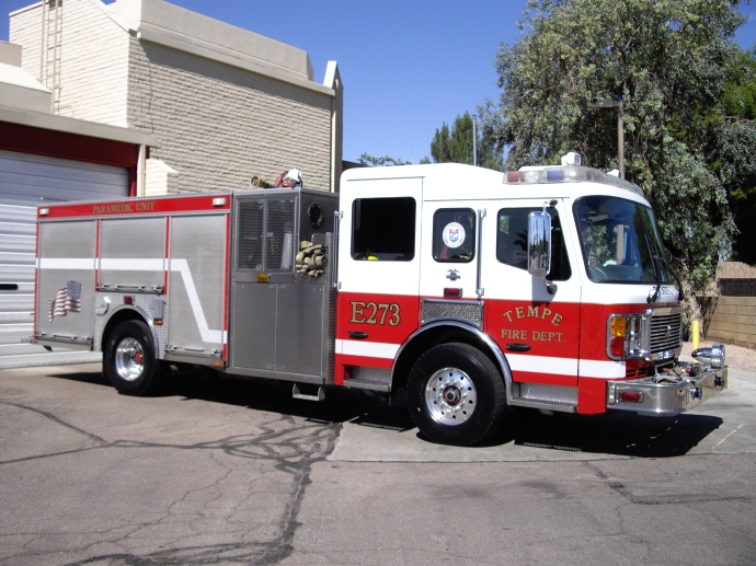 Engine 273 responds from  Station 3