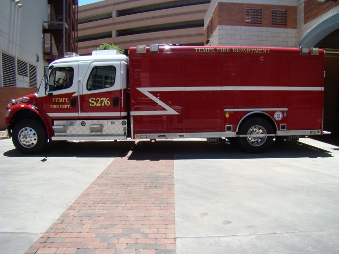 Ladder Tender 276 responds from Station 6