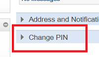 Change Pin button Screenshot