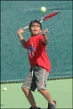 Boy Tennis Player Serving