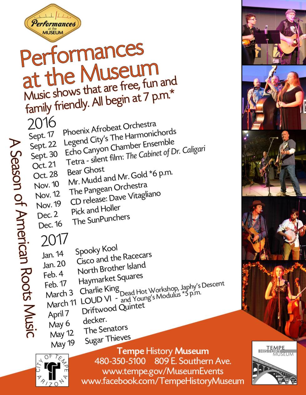 Performances series flier