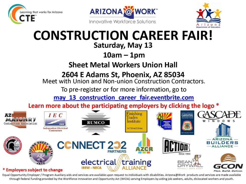 Construction Career Fair | Calendar of Events & Meetings | City of