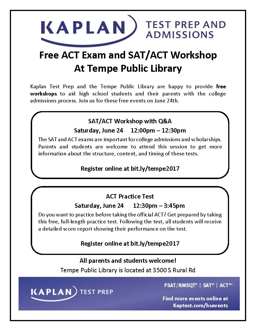 ACT Practice Test | Calendar of Events & Meetings | City of Tempe, AZ