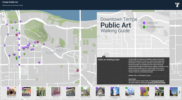public art walking guide screenshot
