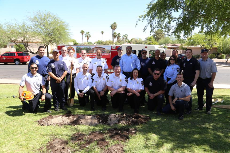 Tempe Fire Medical Rescue staff, Fire Station 7 groundbreaking