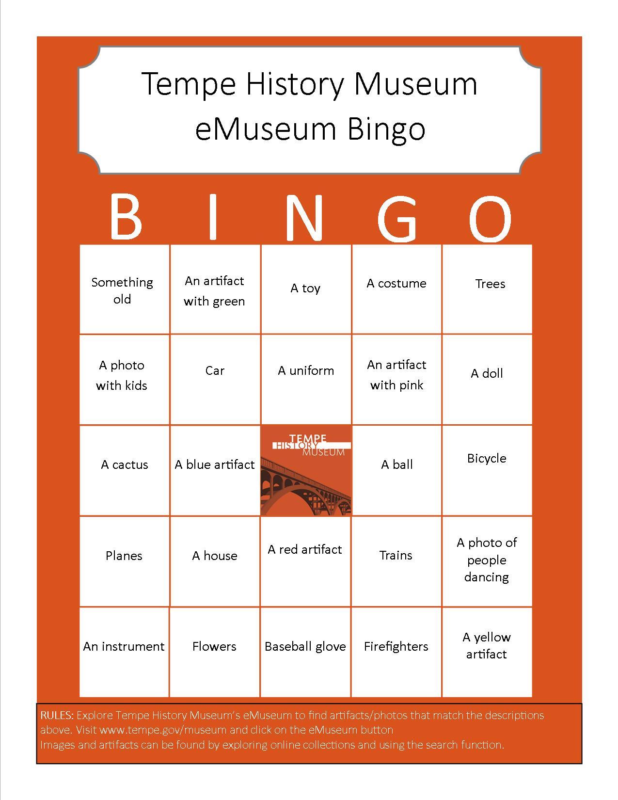 Bingo Card 2 (Easy)
