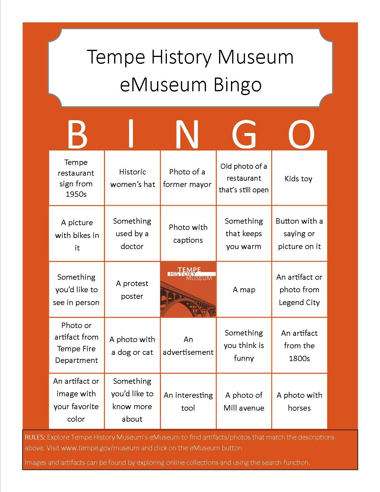 Bingo Card 1 (Medium)