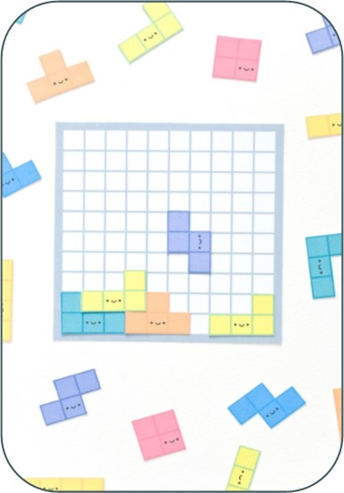 Paper Tetris 2 rounded