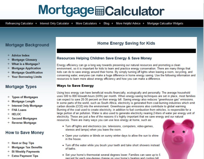 Kids Home Energy Savings