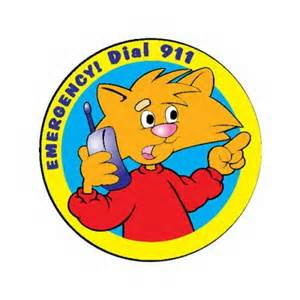Kids 911 Icon Cat on a phone