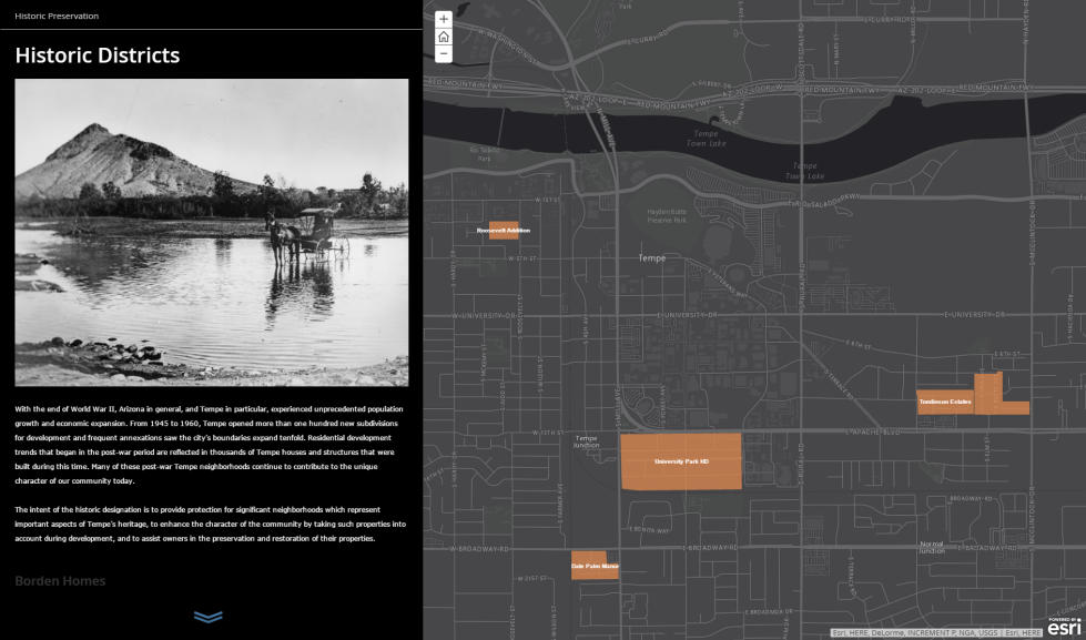 Historic Districts StoryMap