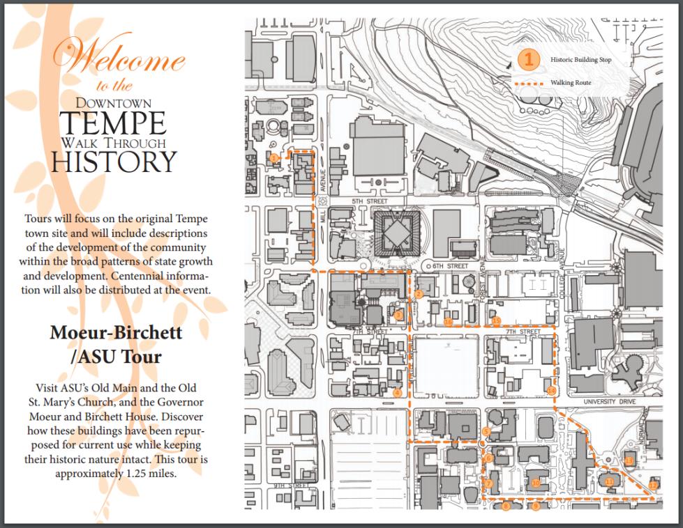 Map Of Arizona Historical Sites.Maps Tours City Of Tempe Az
