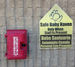 safe baby haven, sign
