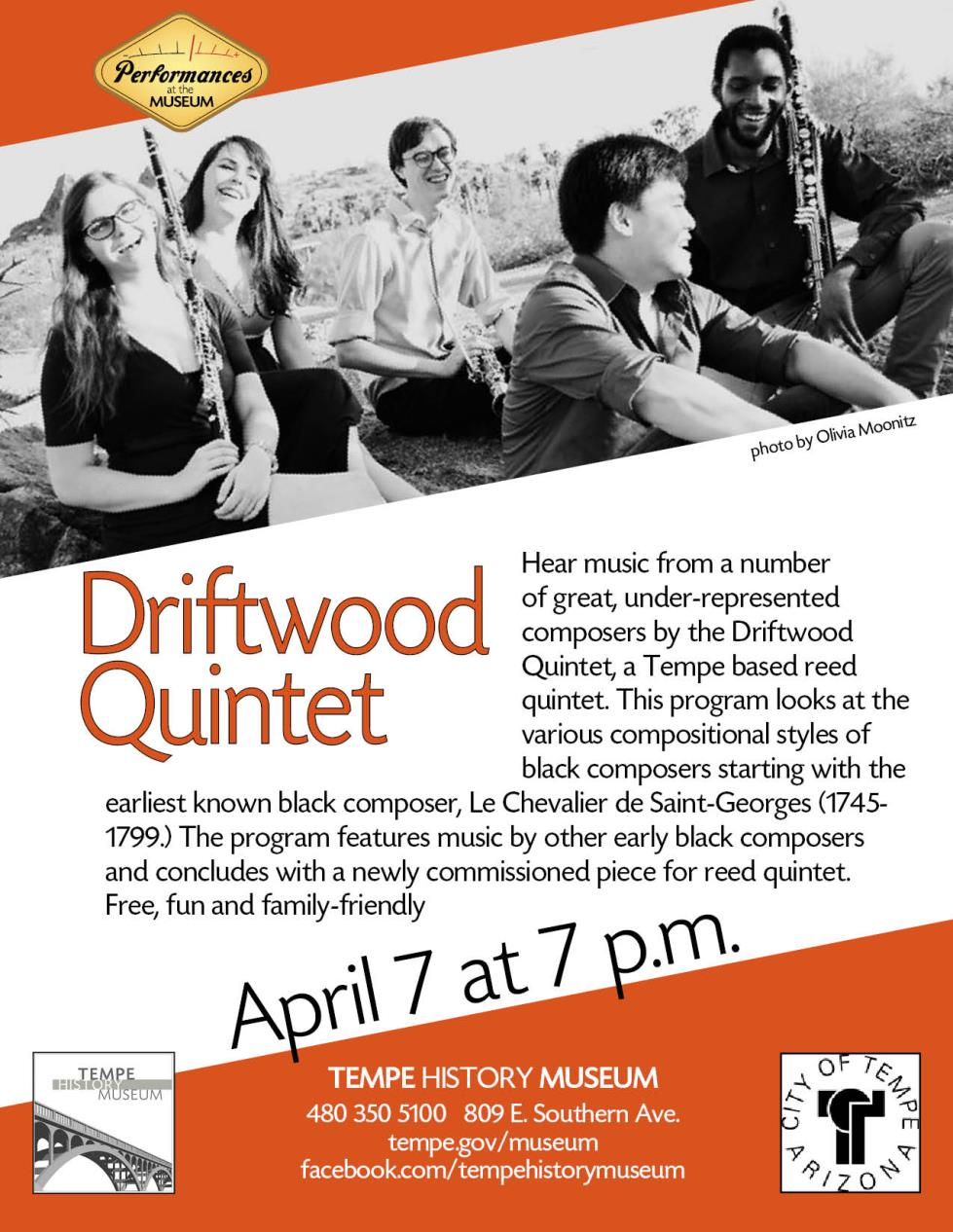 PERFORMANCES at the MUSEUM: Driftwood Quintet | Calendar of