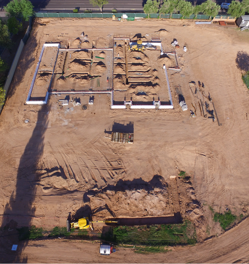 Drone view of Station 7 stem walls