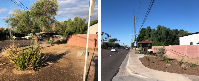 Before-After curb