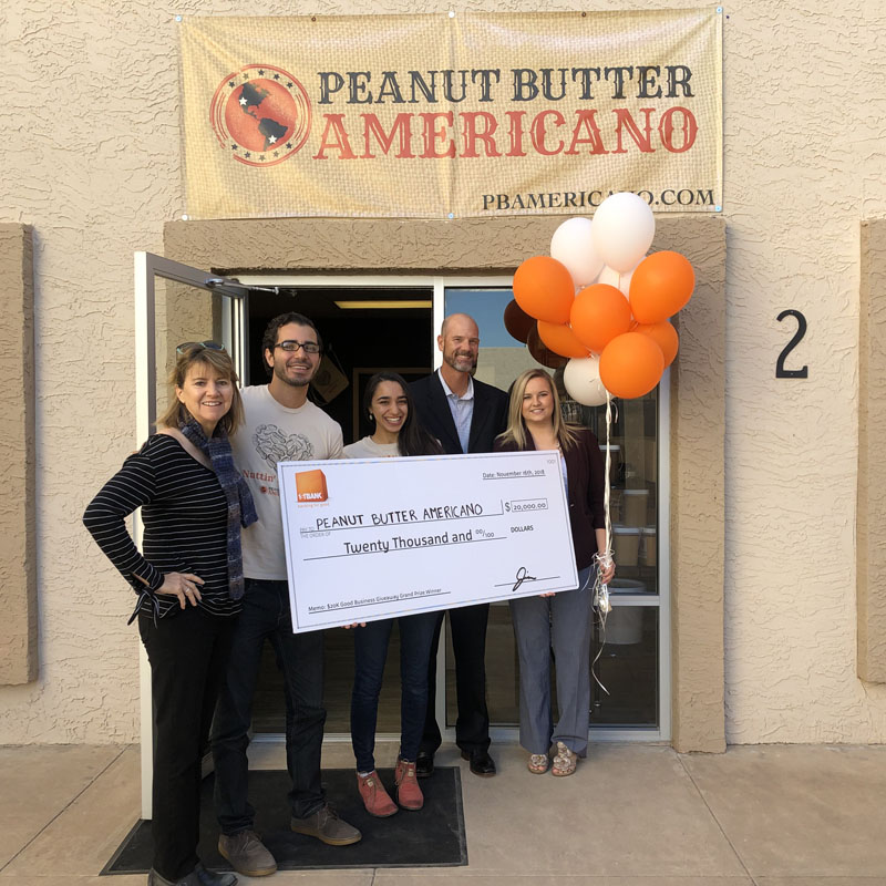 "Tempe-Based Peanut Butter Americano Wins $20,000 in FirstBank's ""$20K Good Business Giveaway"""