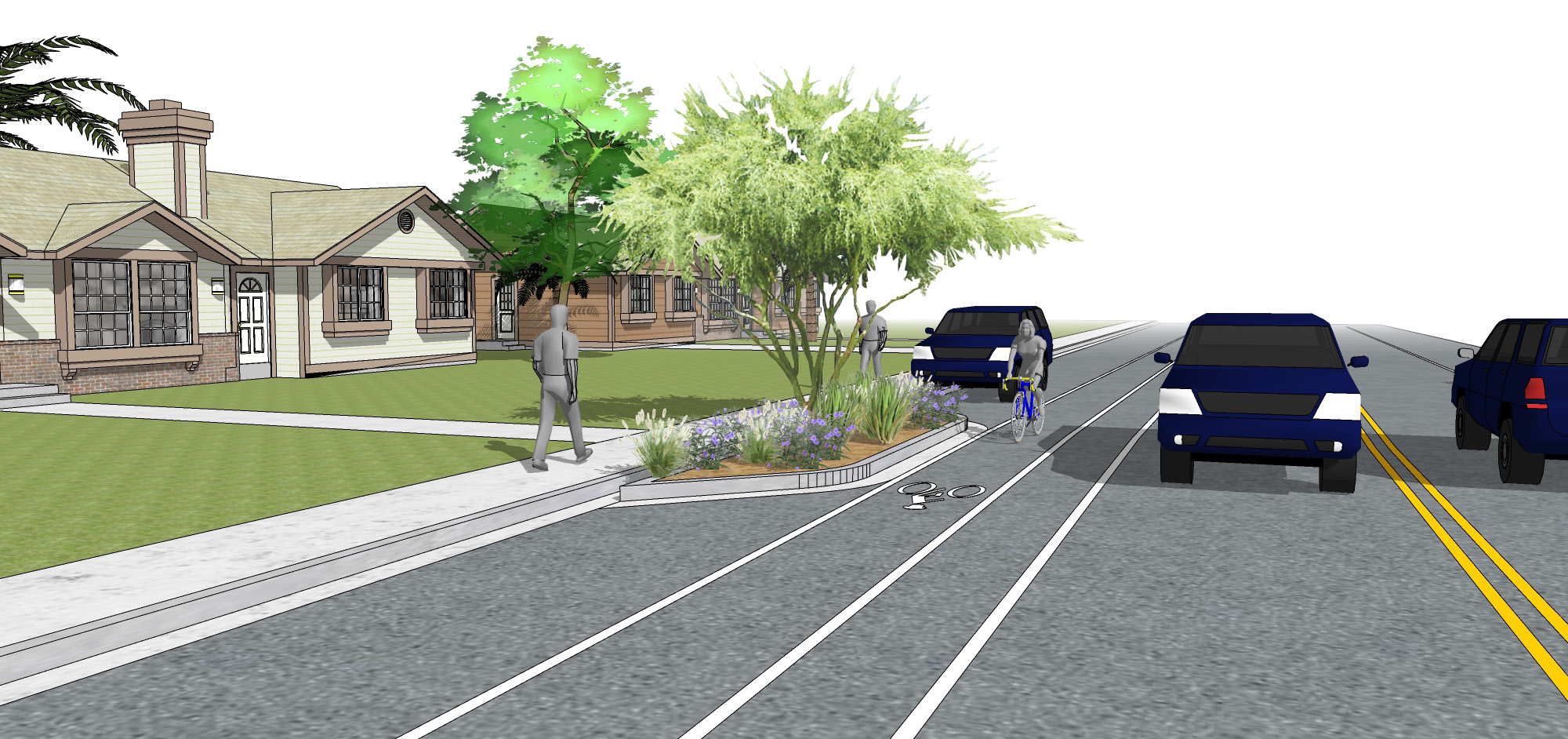 ALAMEDA REVISED BUMPOUTS STRIPING