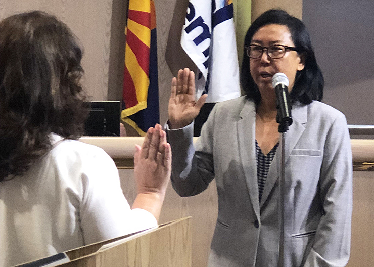 Arlene chin swearing in