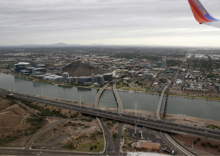 aerial view of Tempe