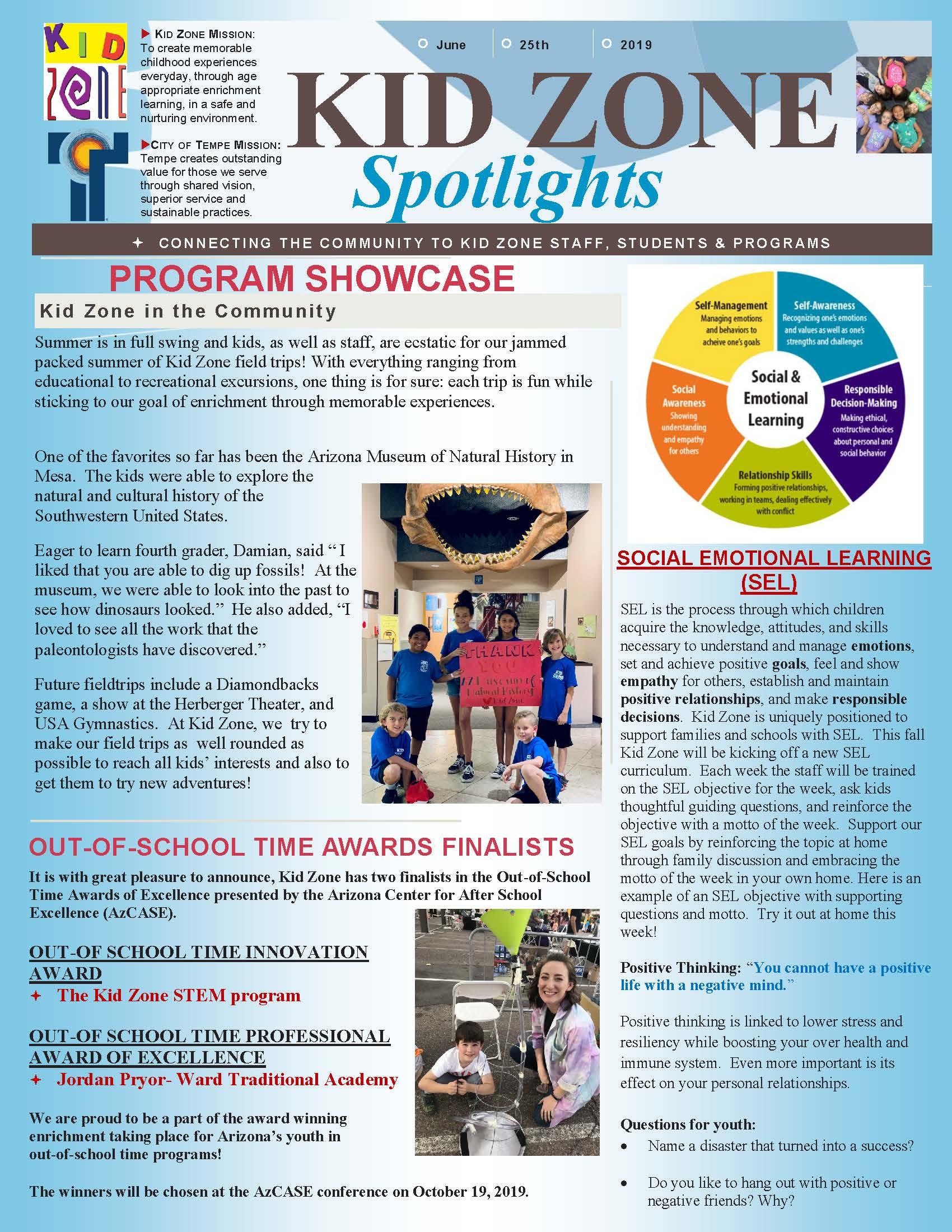 Kid Zone Enrichment Program | City of Tempe, AZ