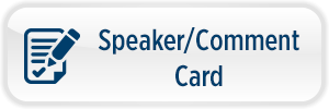 Clerks Speaker-Comment Card Button