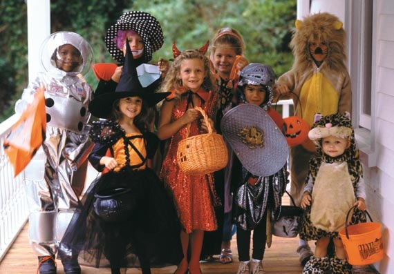 High Res of kids trick or treating