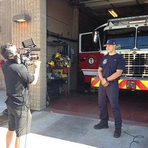 Tempe firefighter, Gabe Ulibarri, news interview