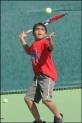 Boy Tennis Player Serving