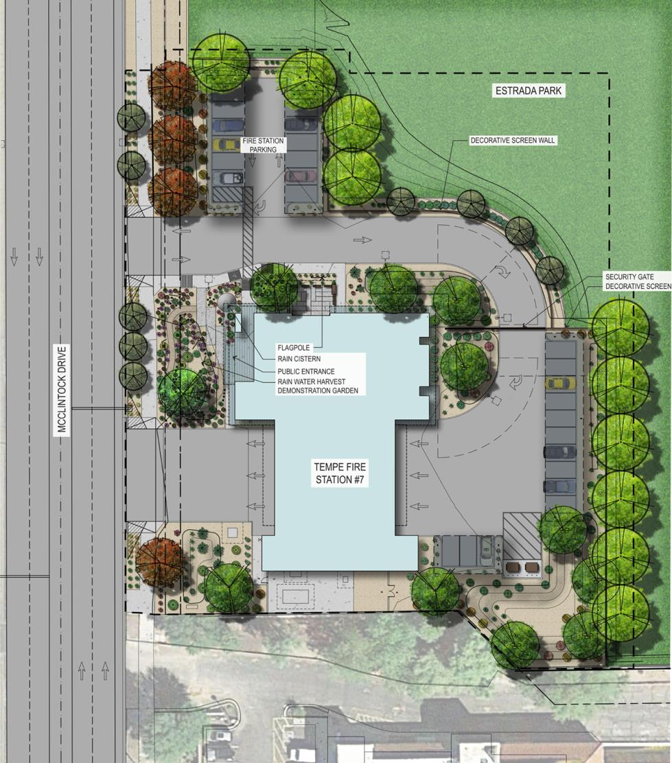 Fire Station 7 site plan