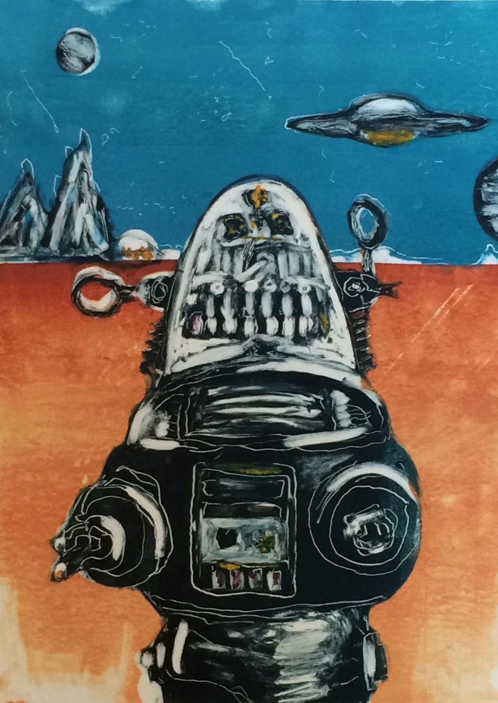 Forbidden Planet-Monotype-8x10-Burruel
