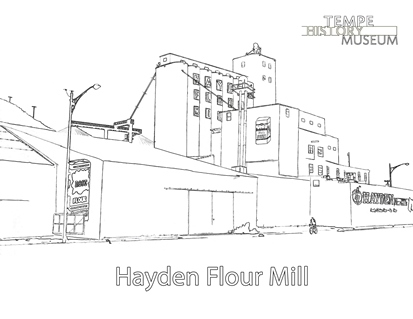 Coloring Page - Hayden Flour Mill THUMBNAIL